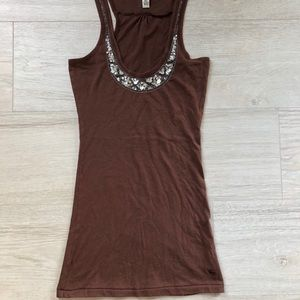ABERCROMBIE & FITCH Tank Top shirt with sequins
